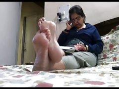 솔직한 뜨거운 다리(발과 발가락)