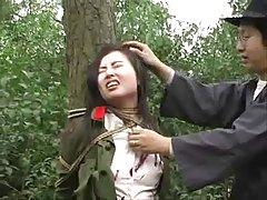 중국 육군 소녀에 얽매이는 나무 1