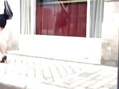 섹시 한 미니 스커트 다리 하이 힐