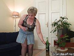 오래 된 할머니 더블 삽입