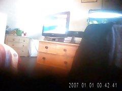 아내 Masturbates 에 숨겨진 카메라