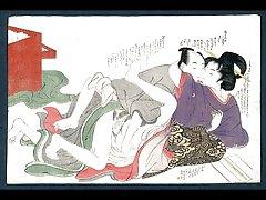 일본어 빈티지 미술 woodblock 인쇄 Ukiyo-e