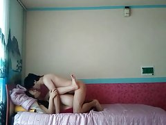 새로운 한국의 커플 비디오