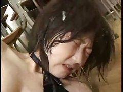Bdsm PET 강아지 하위 slave 얼굴에 침입니다.