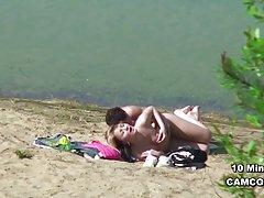 함부르크 해변에서 섹스도 촬 젊은 독일 십 대 커플