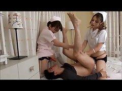 일본 Strapon 간호사 Karen 및 Mao(검열)