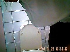 숨겨진 카메라에 태국 사무실 화장실 2 개