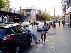 거리 매춘부 지역 베를린에 도보