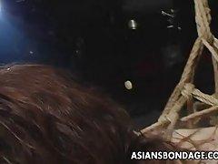 버릇없는 및 kinky bdsm 전을 위한 아시아 Sluts