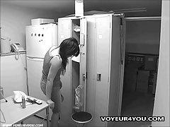 Spying 변경 객실 숨겨진 카메라