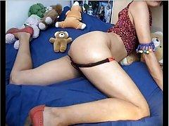 Webcam-아시아를 보여주는 ass