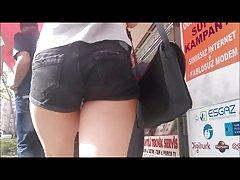 십 대 소녀에서 섹시 한 귀여운 몰래 엉덩이