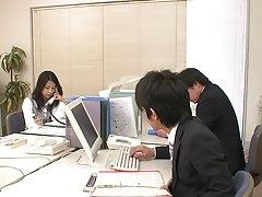 사토미 스즈키-꽤 일본 사무실 소녀